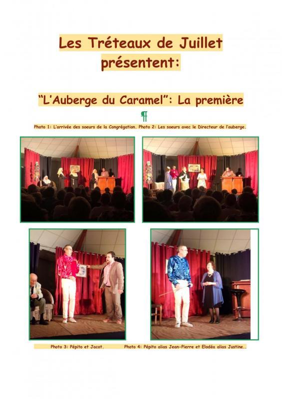 Les treteaux de juillet presentent la premiere de l au berge du caramel 001